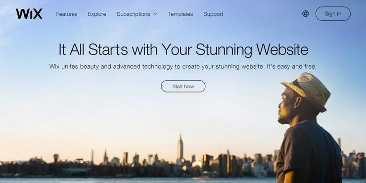 business website with Wix